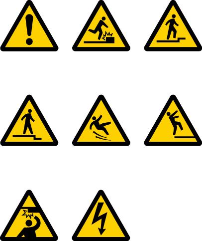注意/Warning 一般注意/General caution 障害物注意/Caution, o